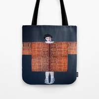philosophy Tote Bags featuring Philosophy of a Geisha by Kristina Haritonova