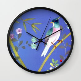 the elusive blue of a summer's twilight Wall Clock