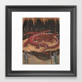 Sleeping Dragon Framed Art Print