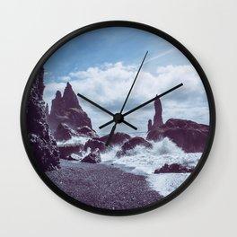 Raging Reynisdrangar Wall Clock