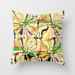 Helter-skelter, 2110s Throw Pillow