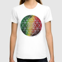 Rasta Planet with Sri Yantra T-shirt