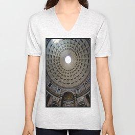 Pantheon in Rome, Italy Unisex V-Neck