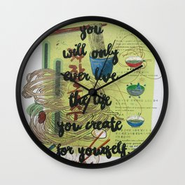 Inspirational Quote- Creativity Wall Clock