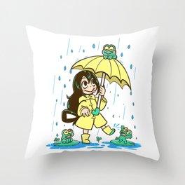 Best Frog Girl1 Throw Pillow