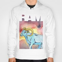 ram Hoodies featuring RAM by David Napier