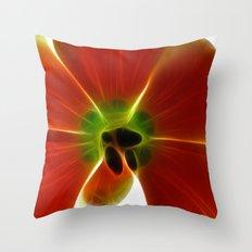 Fractal Tulip Throw Pillow