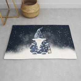 Winter Night Nordic Gnome Rug
