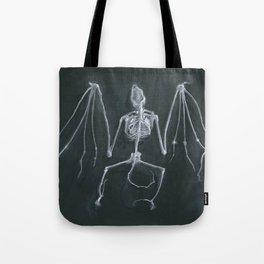 Bat Skeleton Tote Bag