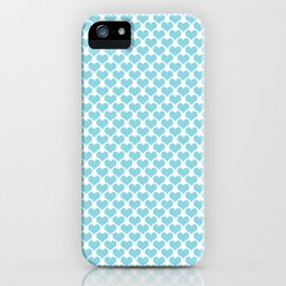 Pastel Blue Heart Pattern iPhone Case