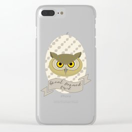 Señora Owl Clear iPhone Case