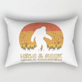 Vintage Hide And Seek World Champion Bigfoot Sasquatch Rectangular Pillow