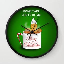 Gingerbread Man at the Chocolate Spa -Christmas Wall Clock