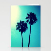 palm trees Stationery Cards featuring Palm Trees by Derek Fleener