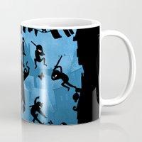 ass Mugs featuring Ninja Kick Ass Clash by Anna-Maria Jung