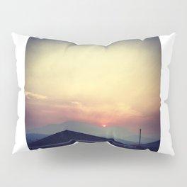 Red Sunset Pillow Sham