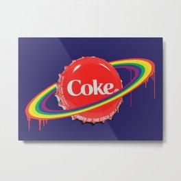 Planet Coke Metal Print