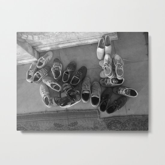Shoes Without Feet Metal Print