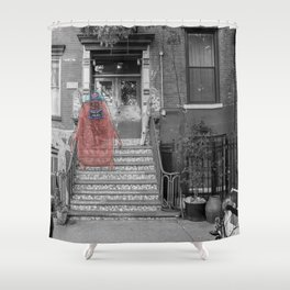 Unseen Monsters of New York - Raconteur Kibitzer Shower Curtain