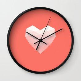 Modern Love - White on Pink Wall Clock