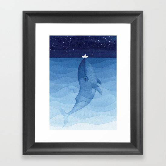 Whale blue ocean by vapinx