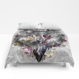 floral wolf 3 Comforters