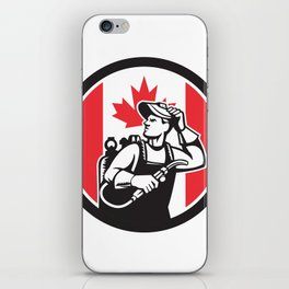 Canadian Welder Canada Flag Icon iPhone Skin