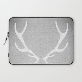 White & Grey Antlers Laptop Sleeve