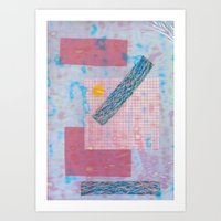 holographic Art Prints featuring holographic by Julia schindler