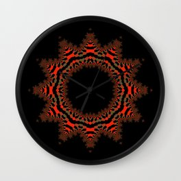 Red Abstract Wreath Wall Clock
