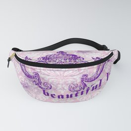 Lace and damask Fanny Pack