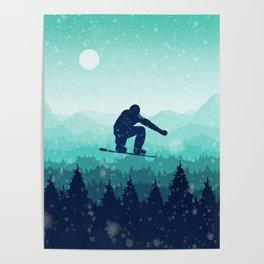 Snowboard Skyline II Poster