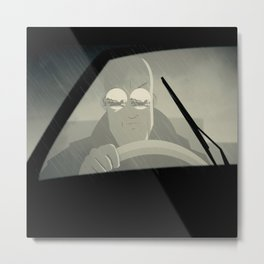 Driving Metal Print