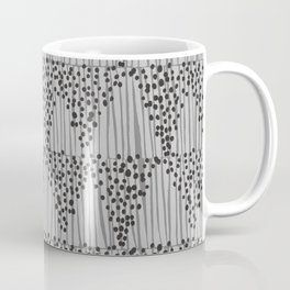 Dots + Stripes - Ash Coffee Mug