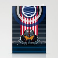 pacific rim Stationery Cards featuring Pacific Rim v2 by milanova