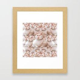 cage cat collage Framed Art Print