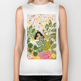 Bathing with Plants Biker Tank