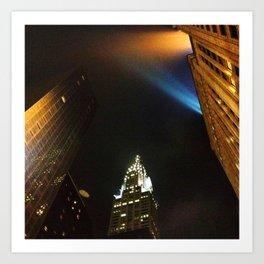 'Chrysler Building Night' Art Print
