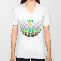 lightning V-neck T-shirts featuring Lightning by Austin Shirtman
