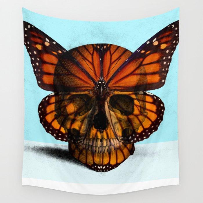 SKULL (MONARCH BUTTERFLY) Wall Tapestry