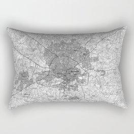 Raleigh North Carolina Map (1990) BW Rectangular Pillow