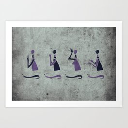 Forms of Prayer - White Art Print