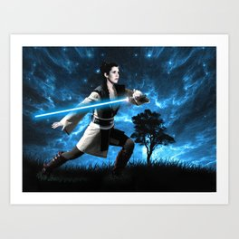 Knight Training Art Print