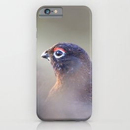 red grouse (Lagopus lagopus scotica) iPhone Case