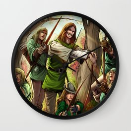 Robin Hood and his Merry Women Wall Clock