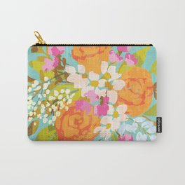 Vintage kitsch: bright summer floral bouquet Carry-All Pouch