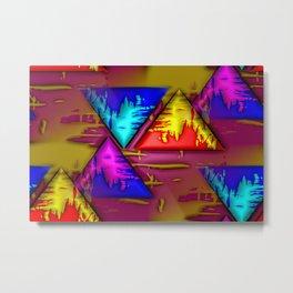 Swamp of triangles ... Metal Print