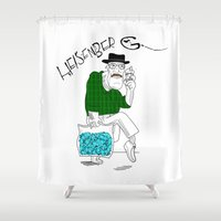 fear and loathing Shower Curtains featuring Fear and Loathing in Albuquerque (Breaking Bad) by Evan