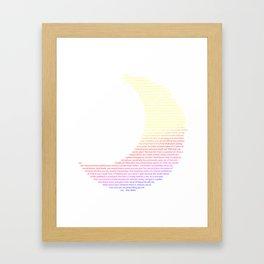 Alan Watts: A Dream Of L:ife Framed Art Print