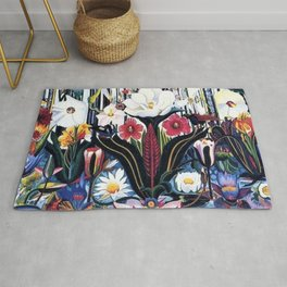 Italians Wildflowers by Joseph Stella Rug